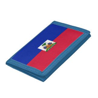 Cartera De 3 Hojas Bandera de Haití