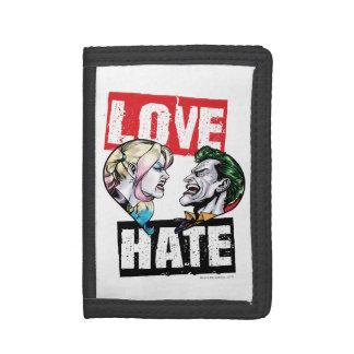 Cartera De 3 Hojas Batman el | Harley Quinn y amor del comodín/odio