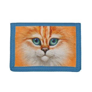 840c6a0d5 Cartera De 3 Hojas Cara anaranjada feliz del gatito