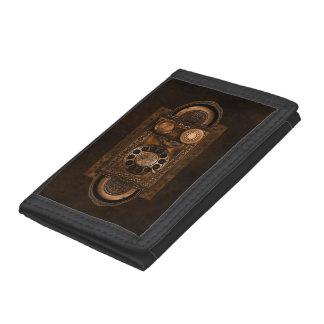 Cartera De 3 Hojas Dial de teléfono rotatorio de Steampunk, vintage,