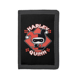 Cartera De 3 Hojas Fracturas de Chibi Harley Quinn