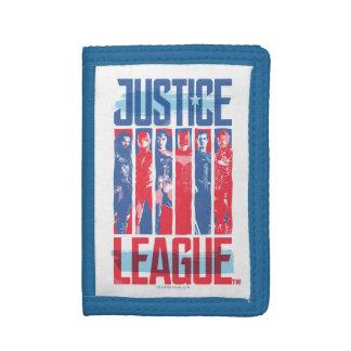 Cartera De 3 Hojas Liga de justicia arte pop azul y rojo del | del