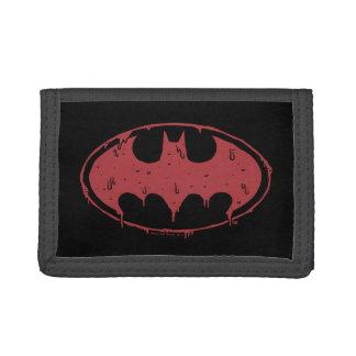 Cartera De 3 Hojas Logotipo de exudación del palo rojo de Batman el |