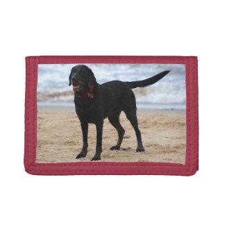 Cartera De 3 Hojas Perro negro de Labrador