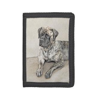 Cartera De 3 Hojas Pintura (Brindle) inglesa del mastín - perro