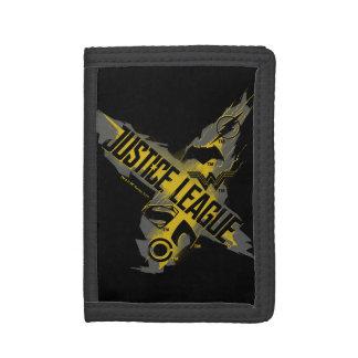 Cartera De 3 Hojas Símbolos de la liga y del equipo de justicia de la