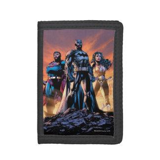 Cartera De 3 Hojas Superhombre, Batman, y trinidad de la Mujer