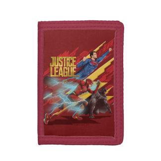 Cartera De 3 Hojas Superhombre de la liga de justicia el |, flash, y