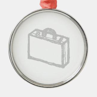 Cartera de la oficina o maleta de los viajeros. adorno navideño redondo de metal