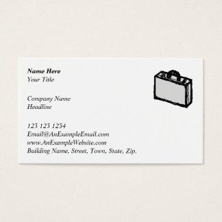 Cartera de la oficina o maleta de los viajeros. tarjeta de negocios