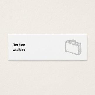 Cartera de la oficina o maleta de los viajeros. tarjeta de visita pequeña