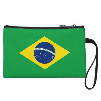 Cartera de los mitones de la bandera del Brasil