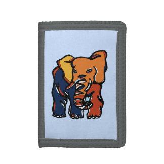 "Cartera de nylon triple colorida del ""elefante"""