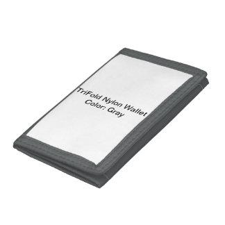 Cartera de nylon triple de encargo (gris)
