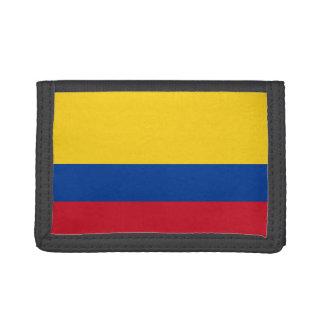 Cartera de nylon triple de la bandera de Colombia