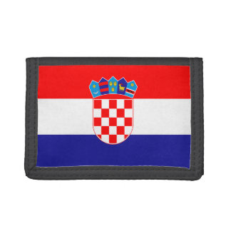 Cartera de nylon triple de la bandera de Croacia