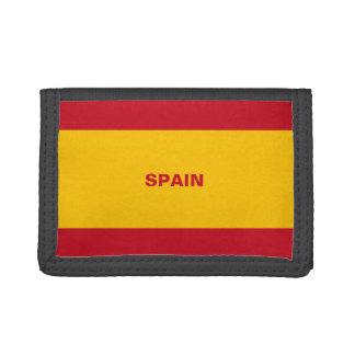 Cartera de nylon triple de la bandera de España