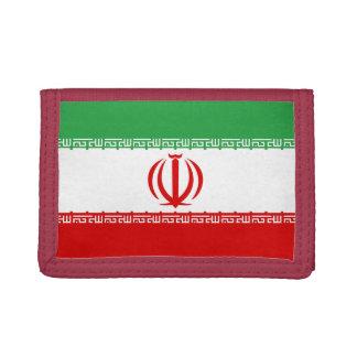 Cartera de nylon triple de la bandera de Irán