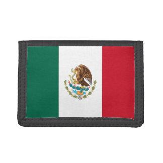 Cartera de nylon triple de la bandera de México