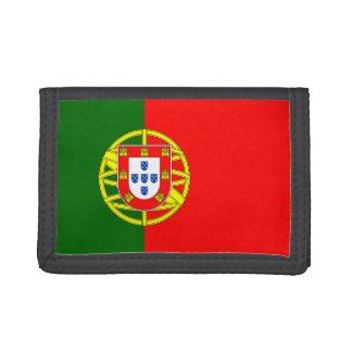 Cartera de nylon triple de la bandera de Portugal