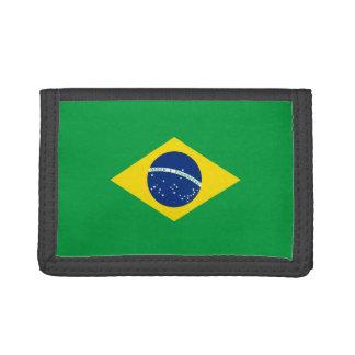 Cartera de nylon triple de la bandera del Brasil