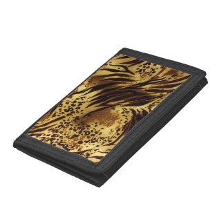 Cartera de nylon triple de la impresión del safari