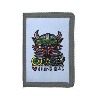 "Cartera de nylon triple de ""Viking Kat"""