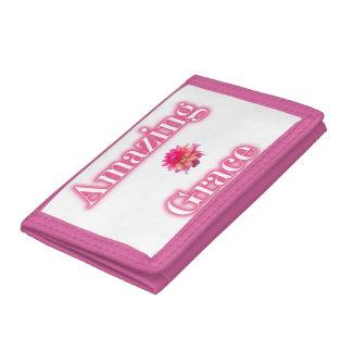 Cartera de nylon triple del rosa asombroso de la