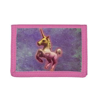 Cartera de nylon triple del unicornio (niebla