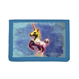Cartera de nylon triple del unicornio (reflejo de