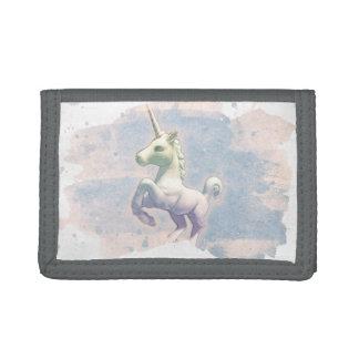 Cartera de nylon triple del unicornio (sueños de