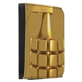 Cartera de oro de la granada de mano