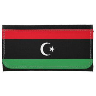 Cartera De Piel Para Mujer Bandera de Libia