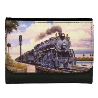 Cartera De Piel Para Mujer Locomotora de vapor