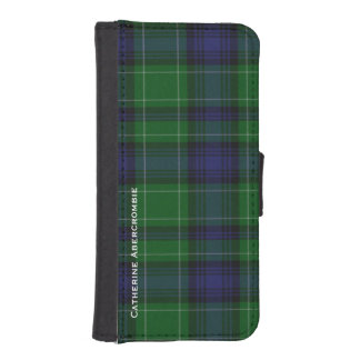 Cartera del iPhone 5S de la tela escocesa de Aberc Fundas Tipo Cartera Para iPhone 5