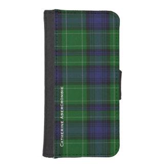 Cartera del iPhone 5S de la tela escocesa de Fundas Tipo Cartera Para iPhone 5