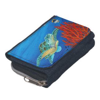 Cartera Honu (tortuga de mar verde) y coral negro