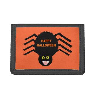 Cartera negra de la araña de Halloween