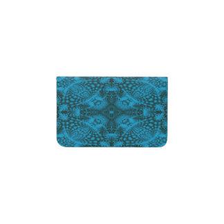 Cartera negra y azul de la tarjeta de visita del