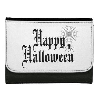 Cartera Para Mujer Tipografía del minimalist del feliz Halloween