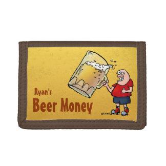 Cartera personalizada del dinero de la cerveza con