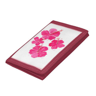 Cartera rosada del hibisco