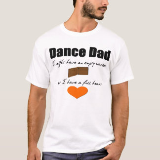 Cartera vacía del papá de la danza, corazón camiseta