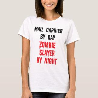 Cartero del asesino del zombi del día por noche camiseta