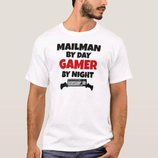 Cartero por videojugador del día por noche camiseta