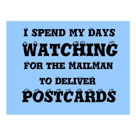 cartero que entrega las postales - postal