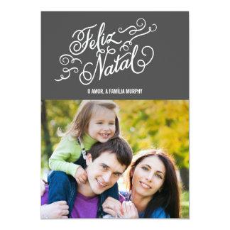 Cartões NATALES de Natal de FELIZ Comunicado Personalizado