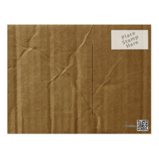 Cartulina arrugada postal