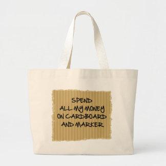 Cartulina y marcador bolsas
