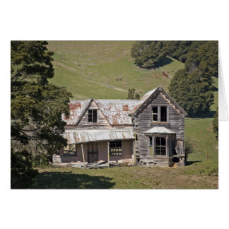 Casa abandonada tarjeta pequeña